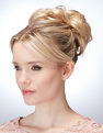 Undone Chignon in Creamy Twist