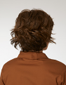 Audacious from behind: Chestnut Mist with hair fluffed up.