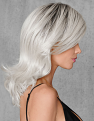 White Out Wig from the Side