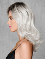 White Out Wig from Left Side