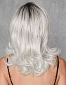 White Out Wig from the Back