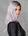 Lilac Frost Wig from the Right Side