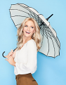 Centre of Attention Wig by Gabor on Model with Umbrella