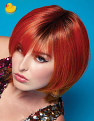Fierce Fire wig from the top with a little ducky