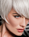Angle Cut Wig in R56/60 Silver Mist