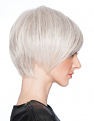 Angle Cut Wig in R56/60 Silver Mist from the side