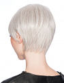 Angle Cut Wig in R56/60 Silver Mist from the back