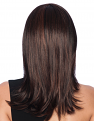 Long with Layers Wig from the side in R435S+ Glazed Black Cherry