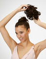 Putting the Messy Top Knot in