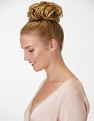 Messy Top Knot in Harvest Gold