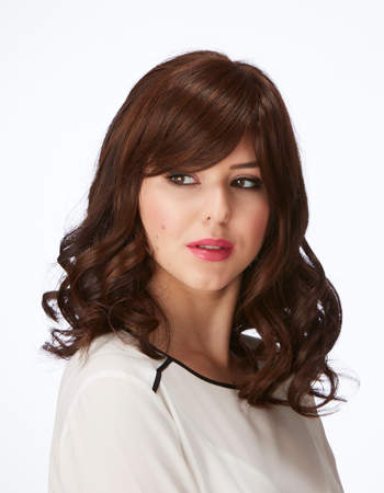 Mid Length Topper with Fringe Hairpiece by Natural Image