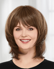 Mid Length curlable Topper by Paula Young
